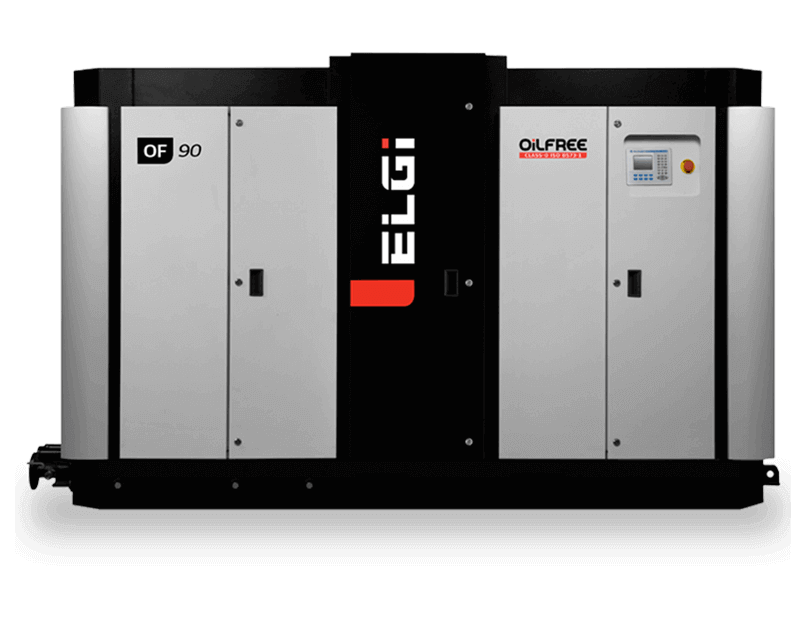 two stage oil free screw air compressor