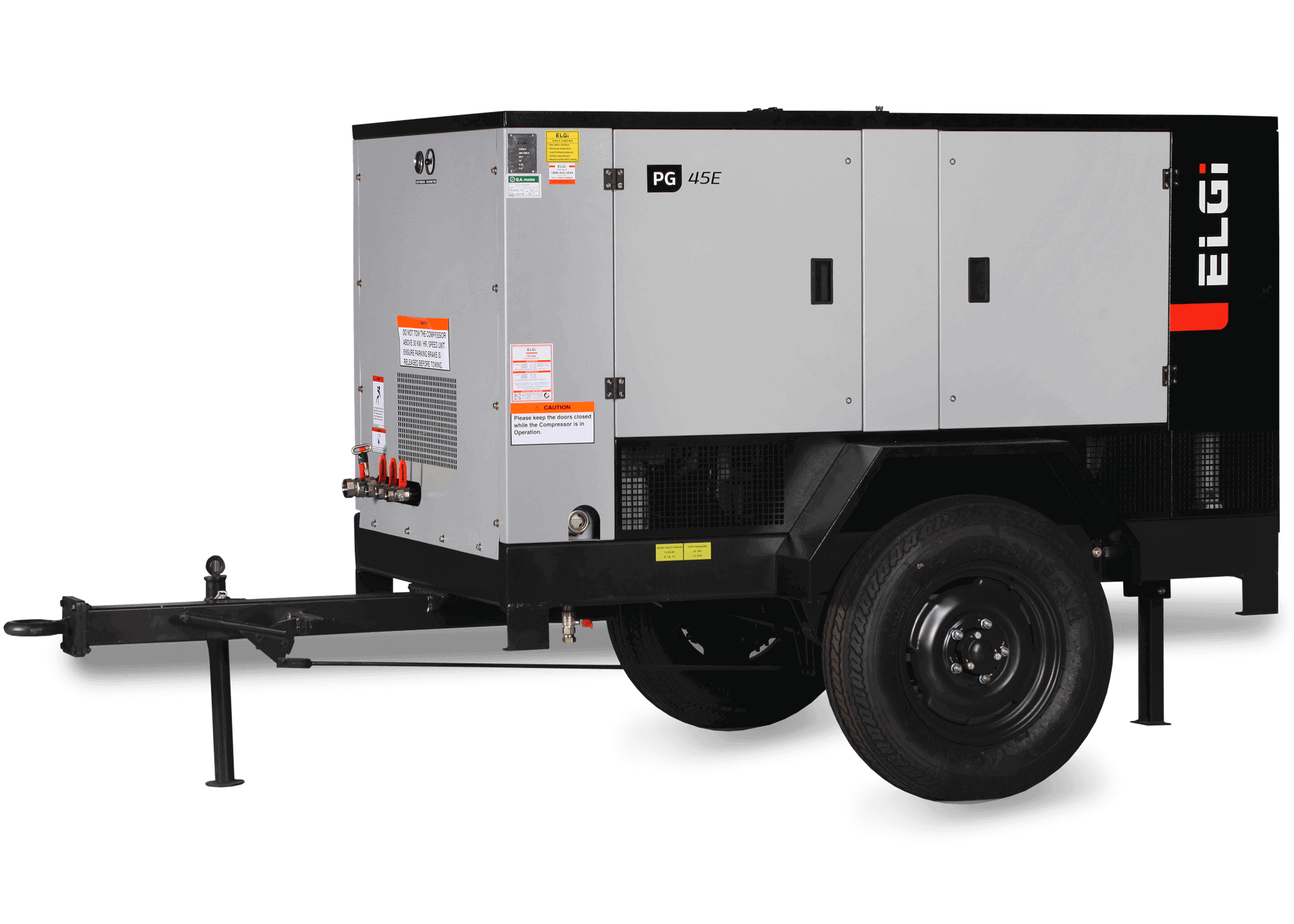 electric powered air compressor for chipping hammers
