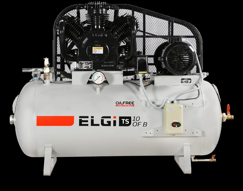 oil free piston compressor for laboratories
