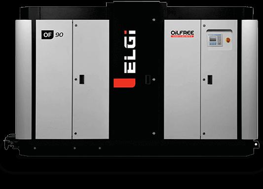 Electric oilfree screw air compressor