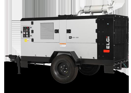 Diesel Trolley Portable Air Compressor Brazil