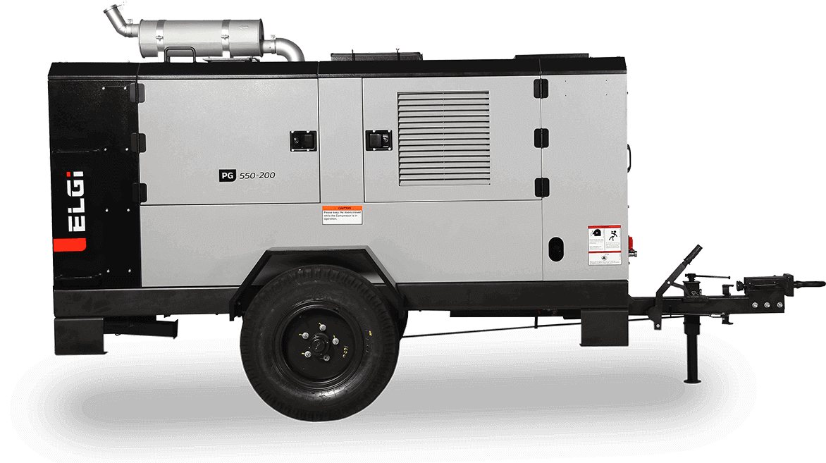 diesel powered trolley mounted compressor for mining