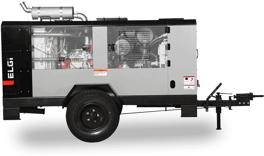 trolley mounted air compressors for cable laying