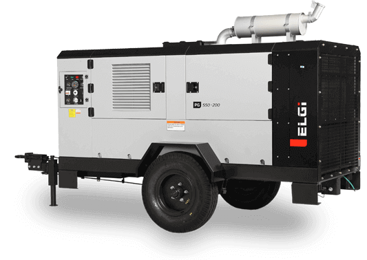 trolley mounted diesel air compressors for construction sites