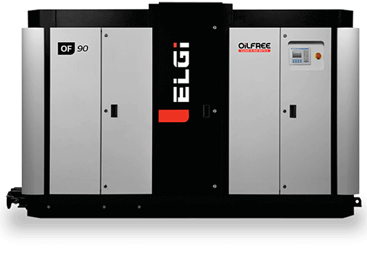 Electric oil free compressors