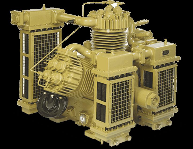 Diesel shunting locomotive compressor